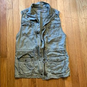 Army style green vest